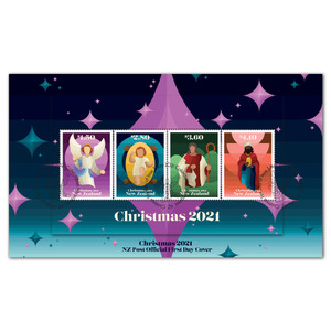 Christmas 2021 Miniature Sheet First Day Cover