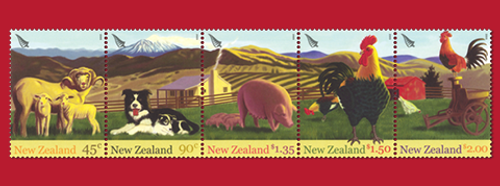 2005 Year of the Rooster - New Zealand Farmyard Animals