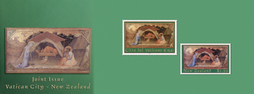 Vatican City and New Zealand Joint Stamp Issue