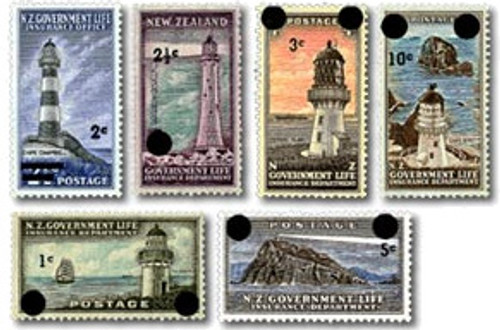 Government Life Insurance Lighthouse Decimal Overprints