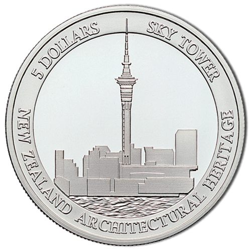 Architectural Heritage - Auckland Sky Tower Silver Proof Coin