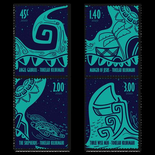 2020 Tokelau Kilihimahi Set of Used Stamps