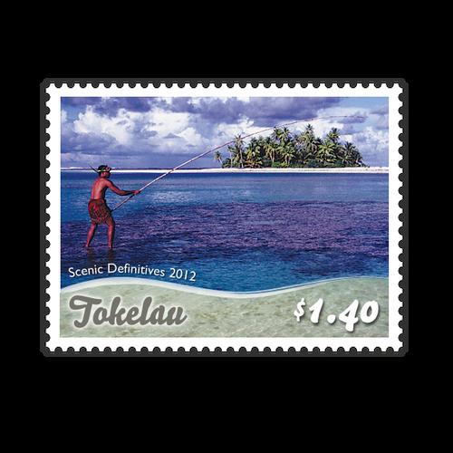 Tokelau Scenic Definitives 2012 $1.40 Stamp