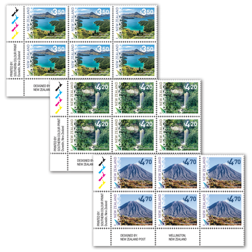 2020 Scenic Definitives Set of Plate Blocks