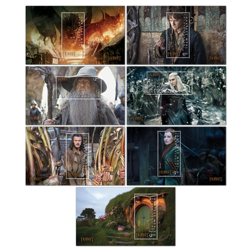 The Hobbit: The Battle of the Five Armies Set of Mint Miniature Sheets