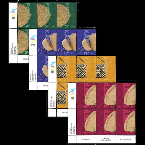Niue Weaving 2020 Set of Plate Blocks