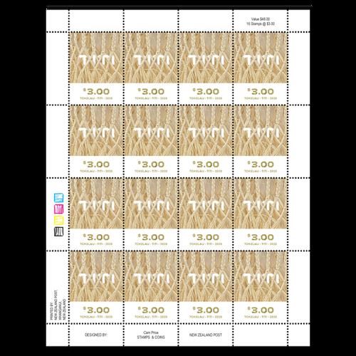 Tokelau Weaving 2020 $3.00 Stamp Sheet