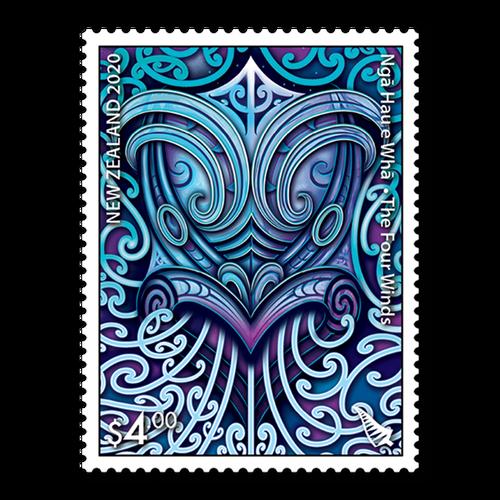 2020 Nga Hau e Wha - The Four Winds $4.00 Stamp