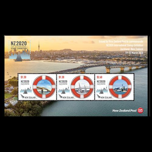 NZ2020 International Stamp Exhibition Maritime Cancelled Miniature Sheet