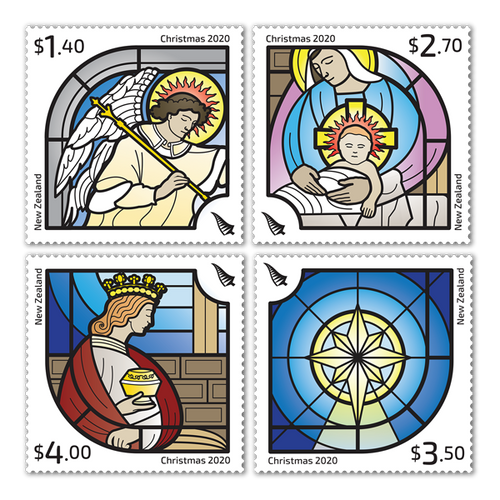 Christmas 2020 Set of Cancelled Stamps