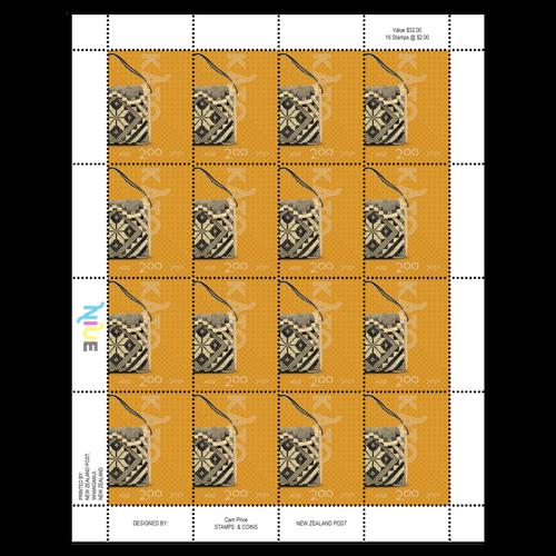 Niue Weaving 2020 $2.00 Stamp Sheet