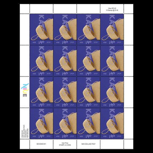 Niue Weaving 2020 $1.40 Stamp Sheet