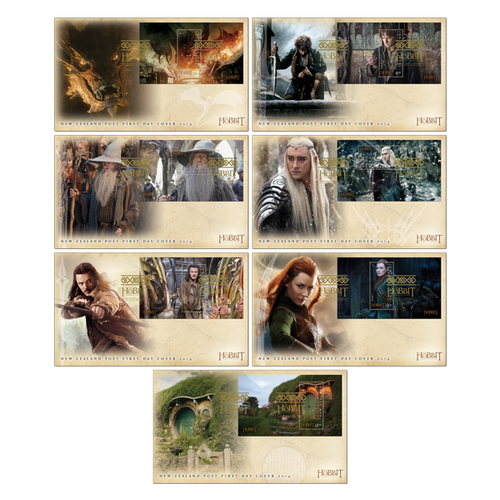 The Hobbit: The Battle of the Five Armies Set of Miniature Sheet First Day Covers