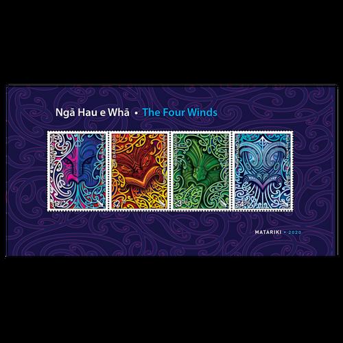 2020 Nga Hau e Wha - The Four Winds Mint Miniature Sheet