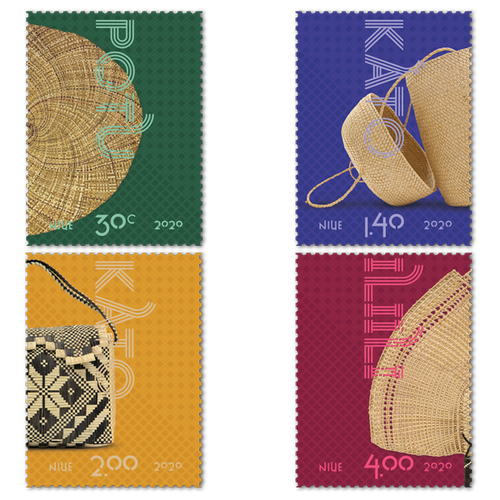 Niue Weaving 2020 Set of Mint Stamps