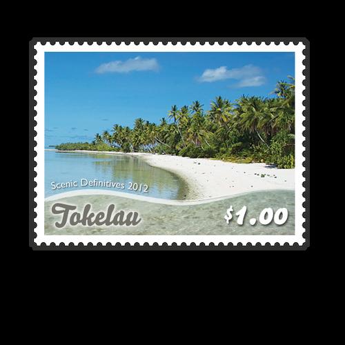 Tokelau Scenic Definitives 2012 $1.00 Stamp