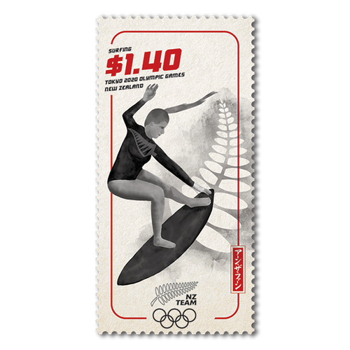 Tokyo 2020 Olympic Games $1.40 Surfing Stamp