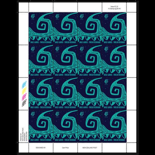 2020 Tokelau Kilihimahi 45c Stamp Sheet