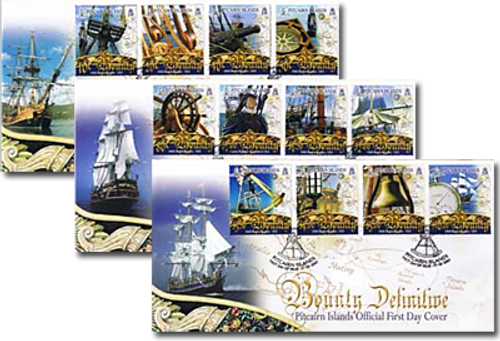 Pitcairn 2007 Bounty Definitive Set of First Day Covers