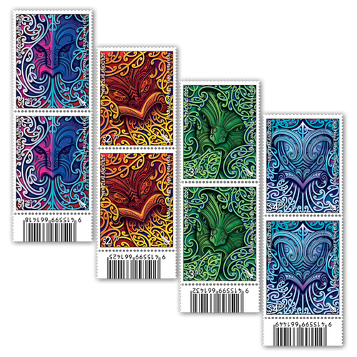 2020 Nga Hau e Wha - The Four Winds Set of Barcode A Blocks