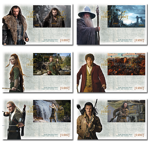 The Hobbit: The Desolation of Smaug Set of Miniature Sheet First Day Covers
