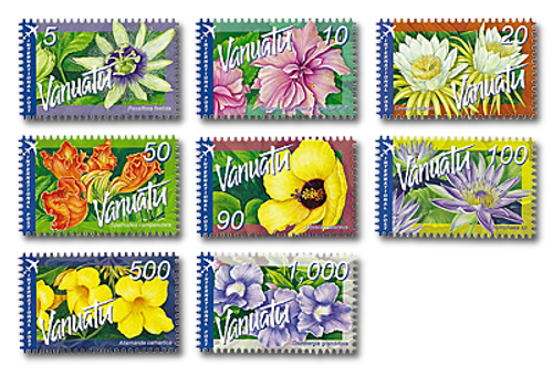 2006 Vanuatu Tropical Flowers International Definitive Set of Stamps