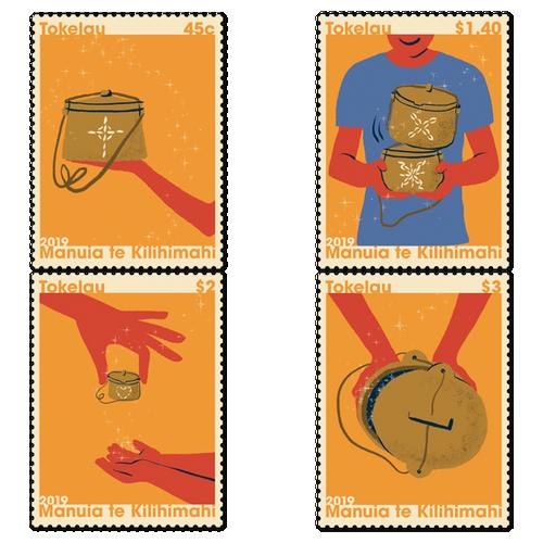 Tokelau Christmas 2019 Set of Used Stamps