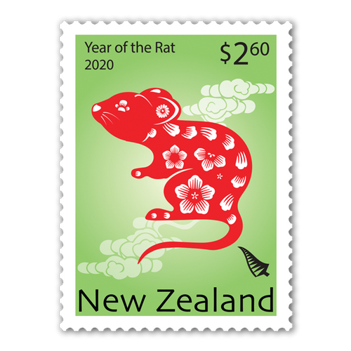 2020 Year of the Rat $2.60 Stamp