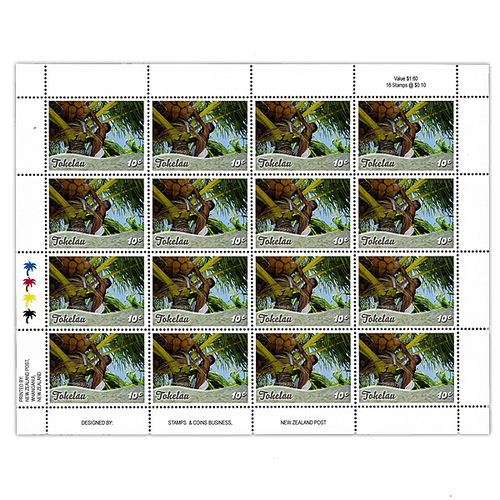 Tokelau Scenic Definitives 2012 10c Stamp Sheet