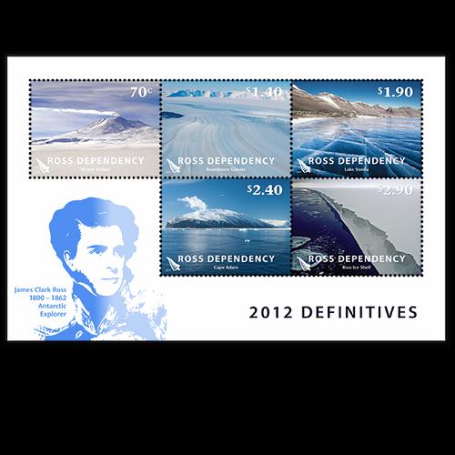 2012 Ross Dependency Definitives Cancelled Miniature Sheet