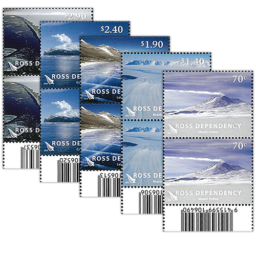 2012 Ross Dependency Definitives Set of Barcode A Blocks