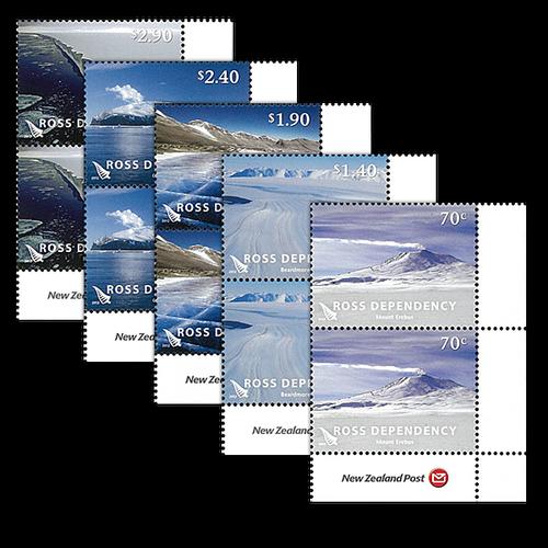 2012 Ross Dependency Definitives Set of Logo Blocks