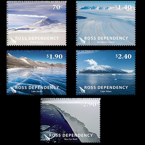 2012 Ross Dependency Definitives Set of Mint Stamps