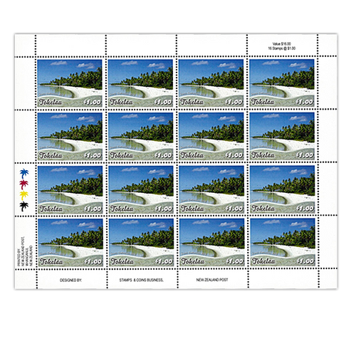 Tokelau Scenic Definitives 2012 $1.00 Stamp Sheet