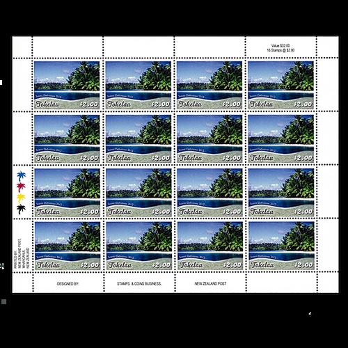 Tokelau Scenic Definitives 2012 $2.00 Stamp Sheet
