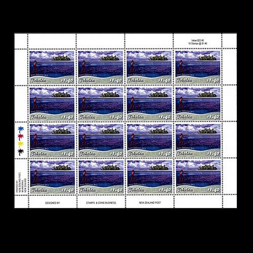 Tokelau Scenic Definitives 2012 $1.40 Stamp Sheet