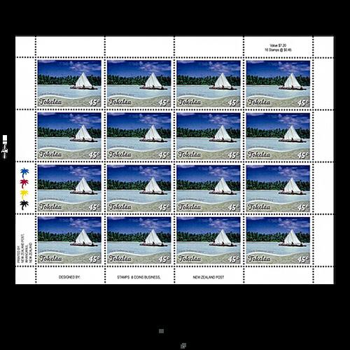 Tokelau Scenic Definitives 2012 45c Stamp Sheet