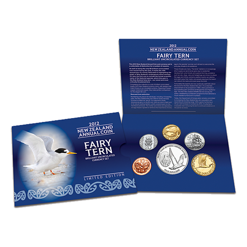 2012 New Zealand Annual Coin: Fairy Tern Brilliant Uncirculated Currency Set
