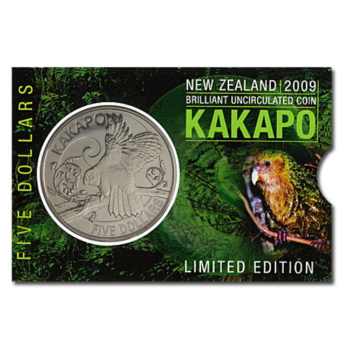 2009 Kakapo Brilliant Uncirculated Coin