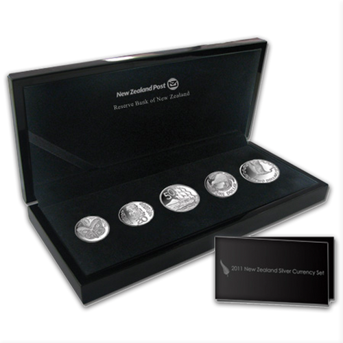 2011 New Zealand Silver Currency Set