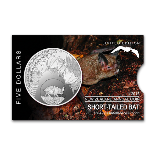 2013 New Zealand Annual Coin: Short-tailed Bat Brilliant Uncirculated Coin