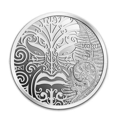 2013 Maori Art - Koru Silver Proof Coin