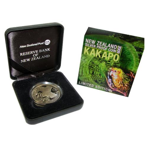 2009 Kakapo Silver Proof Coin