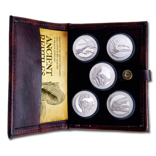 2010 Ancient Reptiles Silver Bullion Coin Set