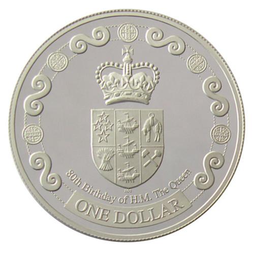 2006 Queen Elizabeth II 80th Birthday Silver Proof Coin