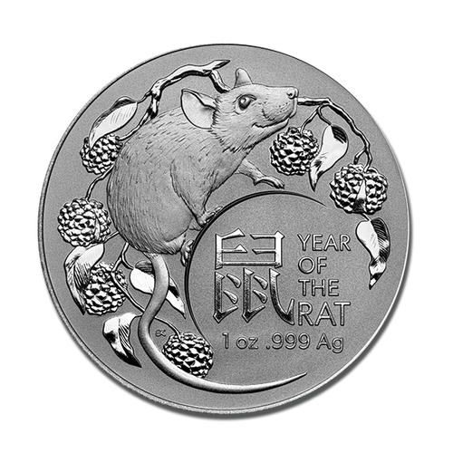 2020 Investment Lunar Series - Year of the Rat Silver Coin