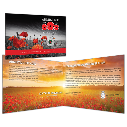 Armistice 1918 - 2018 Commemorative Circulating Coin Collectable Pack