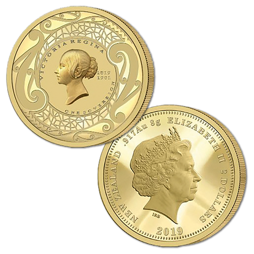 2019 New Zealand Sovereign - Queen Victoria 200 Years One Sovereign Gold Proof Medallic Coin