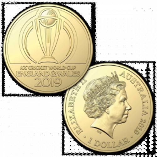 ICC Cricket World Cup 2019 $1 AL-Br Uncirculated Coin