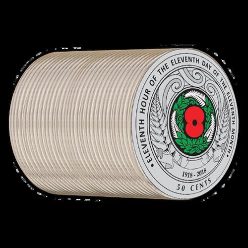 Armistice 1918 - 2018 Commemorative Circulating Roll of Coins